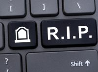 R.I.P key on computer keyboard